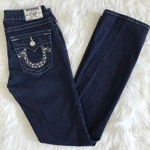 True Religion Jeans Becky Rhinestone size 28.